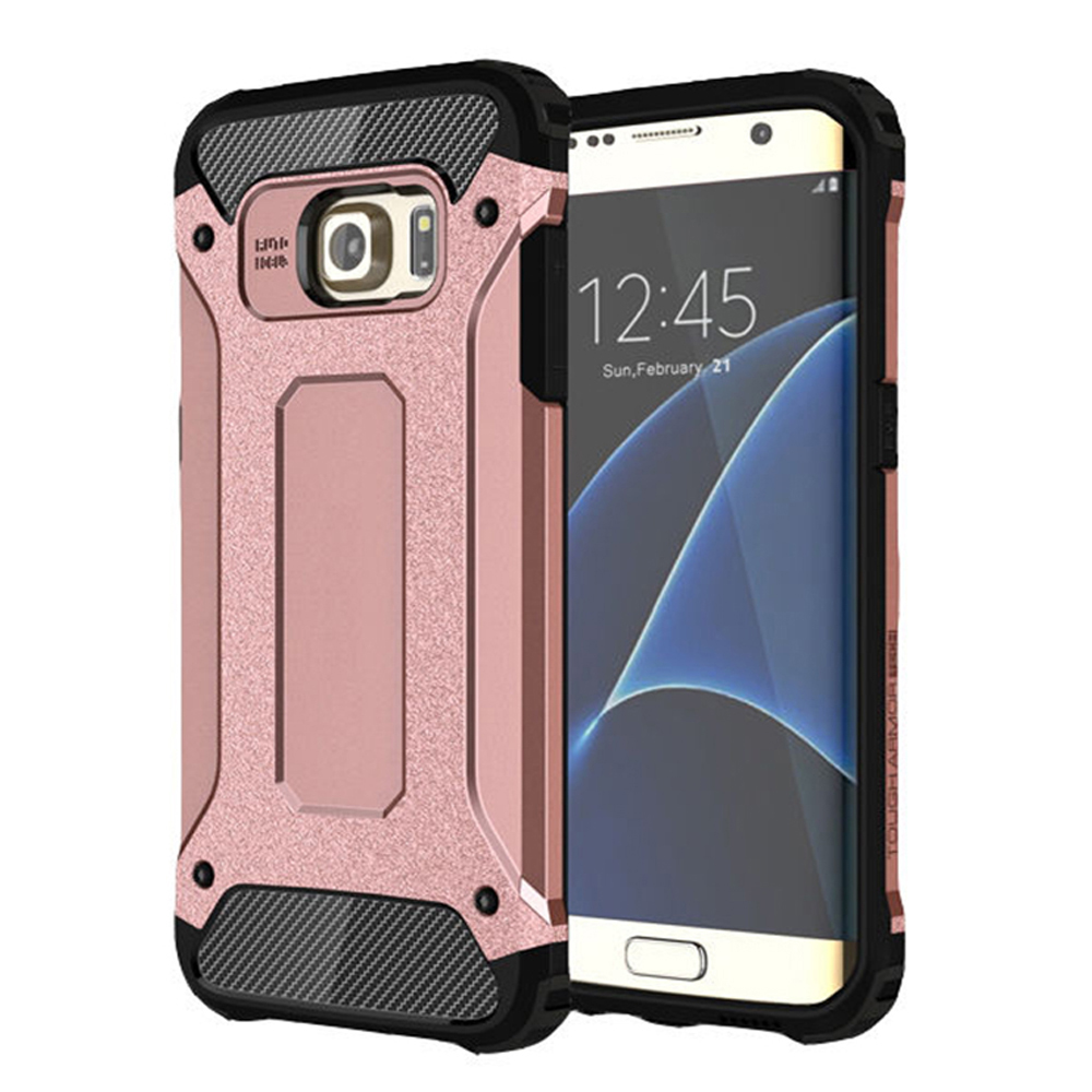 Samsung Galaxy S7 Edge Armor Hybrid Dual Layer Shockproof Touch Case Cover Black