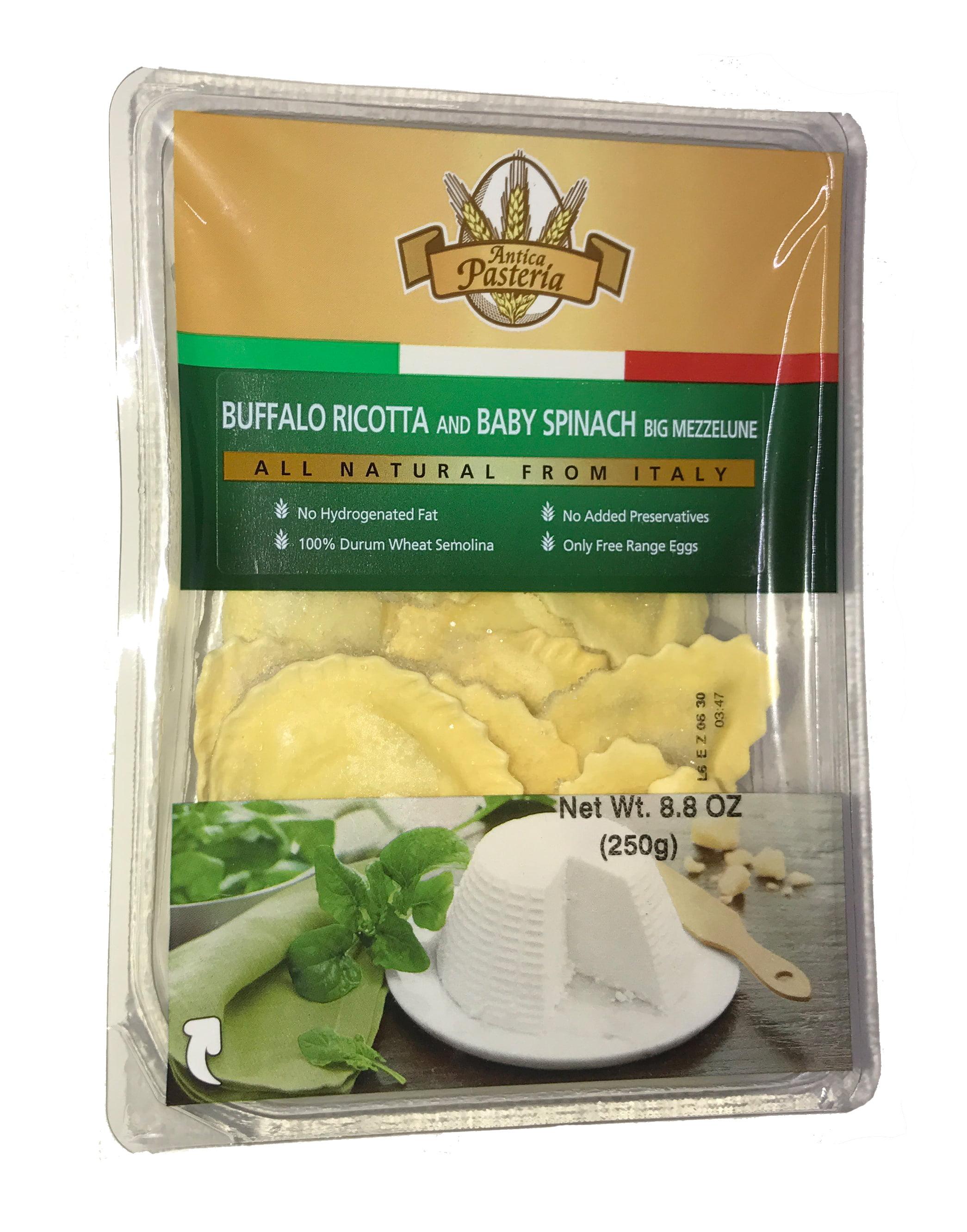 Antica Pasteria Buffalo Ricotta & Baby Spinach Mezzelune Ravioli 8.8 oz (2 Pack) by Antica Pasteria