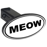 "Meow Euro Oval 1.25"" Oval Tow Trailer Hitch Cover Plug Insert"