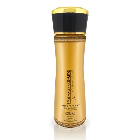 Keratin Cure Best Strong Hair Treatment Gold & Honey V2 CREAM 4 OUNCES Intensive Extracts Nourishing Straightening Damaged Dry Frizzy Coarse Curly African Ethnic Wavy Hair keratina