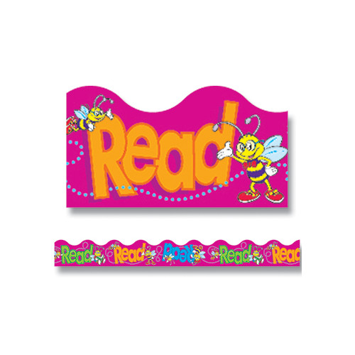 Trend Enterprises Trimmer Bee A Reader Classroom Border