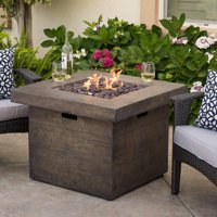 Product Image Ford Magnesium Oxide Square Gas Fire Pit Brown