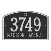Personalized Whitehall Products Cape Charles 2-Line Standard Wall Plaque in Black/Silver