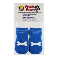 Power Paws, traction socks for dogs, XXL, Blue w/Bone, Mobility: Freedom and movement for senior dogs. By Woodrow Wear