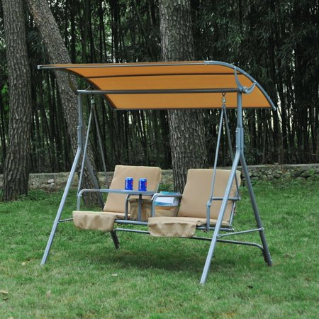New MTN-G MTN-G Outdoor Swing Chair Canopy Patio Garden Hanging 2 Person Yard Porch Furniture