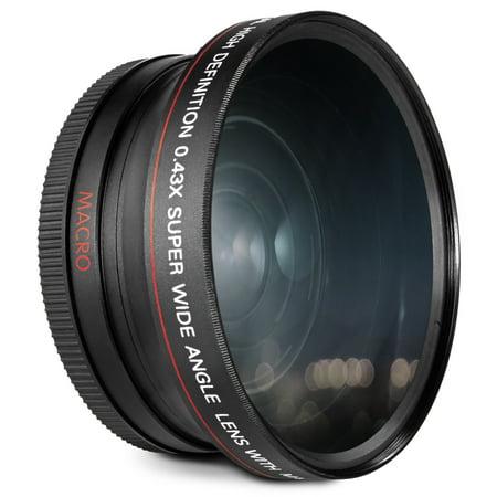 72MM 0.43x Altura Photo Professional HD Wide Angle Lens (w/ Macro Portion) for CANON (EF 35mm f/1.4L, EF 85mm f/1.2L II, EF 135mm f/2L), NIKON (85mm f/1.4, 18-200mm f/3.5 5.6G) Lenses