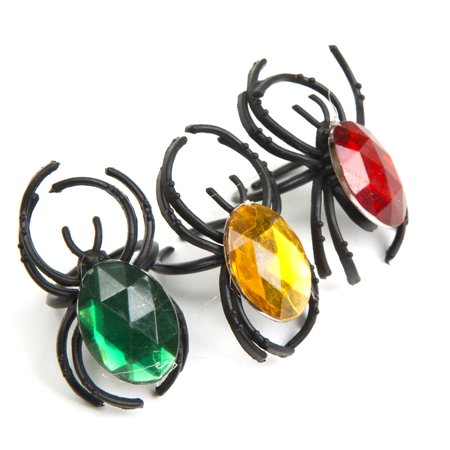 Jewel Spider Rings](Plastic Spider Rings)