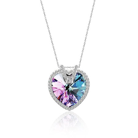 Pealrich love heart fashion pendant necklace with swarovski crystal pealrich love heart fashion pendant necklace with swarovski crystal for women birthdaybridesmaid gift jewelry aloadofball Image collections