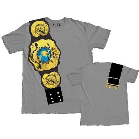 - WWE World Heavyweight Champion Belt on Shoulder Adult T-Shirt