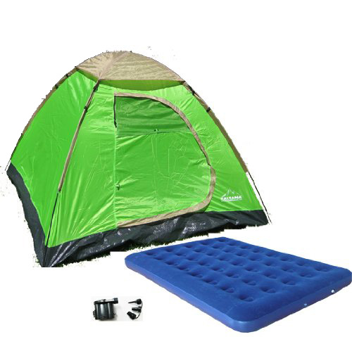 Zaltana 3 PERSON TENT WITH Double Size AIR MATTRESS  & DC...