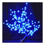 """Christmas at Winterland CH-168BL-60B 30"""" Tall Cherry Tree with Metal Base and Bl"""