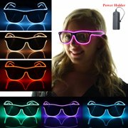 Light up LED Sun Glasses Wire Fashion Neon Luminous Club Party Frame Eyewear Sunglasses
