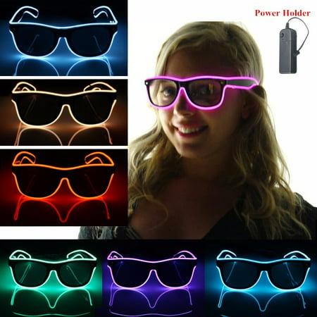 Light Up Sunglasses Bulk (Light up LED Sun Glasses Wire Fashion Neon Luminous Club Party Frame Eyewear)