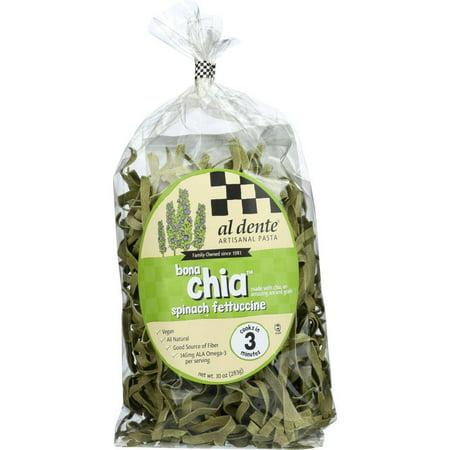 Al Dente Bona Chia Spinach Fettuccine Pasta, 10 Oz (Pack Of 6)