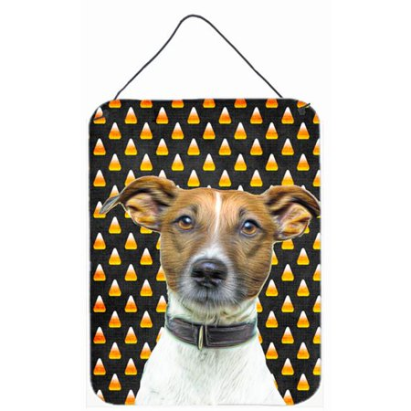 Carolines Treasures KJ1211DS1216 Candy Corn Halloween Jack Russell Terrier Aluminium Metal Wall or Door Hanging Prints - image 1 de 1