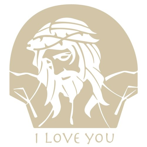 The Decal Guru Jesus Loves You Wall Decal