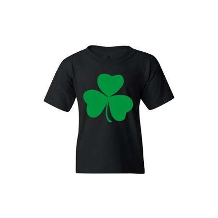 Shop4Ever Youth Lucky Irish Shamrock Clover St. Patrick's Day Graphic Youth T-Shirt - Lucky Shamrock
