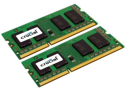 Crucial 16GB DDR3 SDRAM Memory Module - 16 GB (2 x 8 GB) - DDR3 SDRAM - 1600 MHz DDR3-1600/PC3-12800 - Non-ECC - Unbuffered - 204-pin SoDIMM