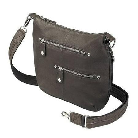 GTM Concealed Carry Chrome Zip Handbag, Brown