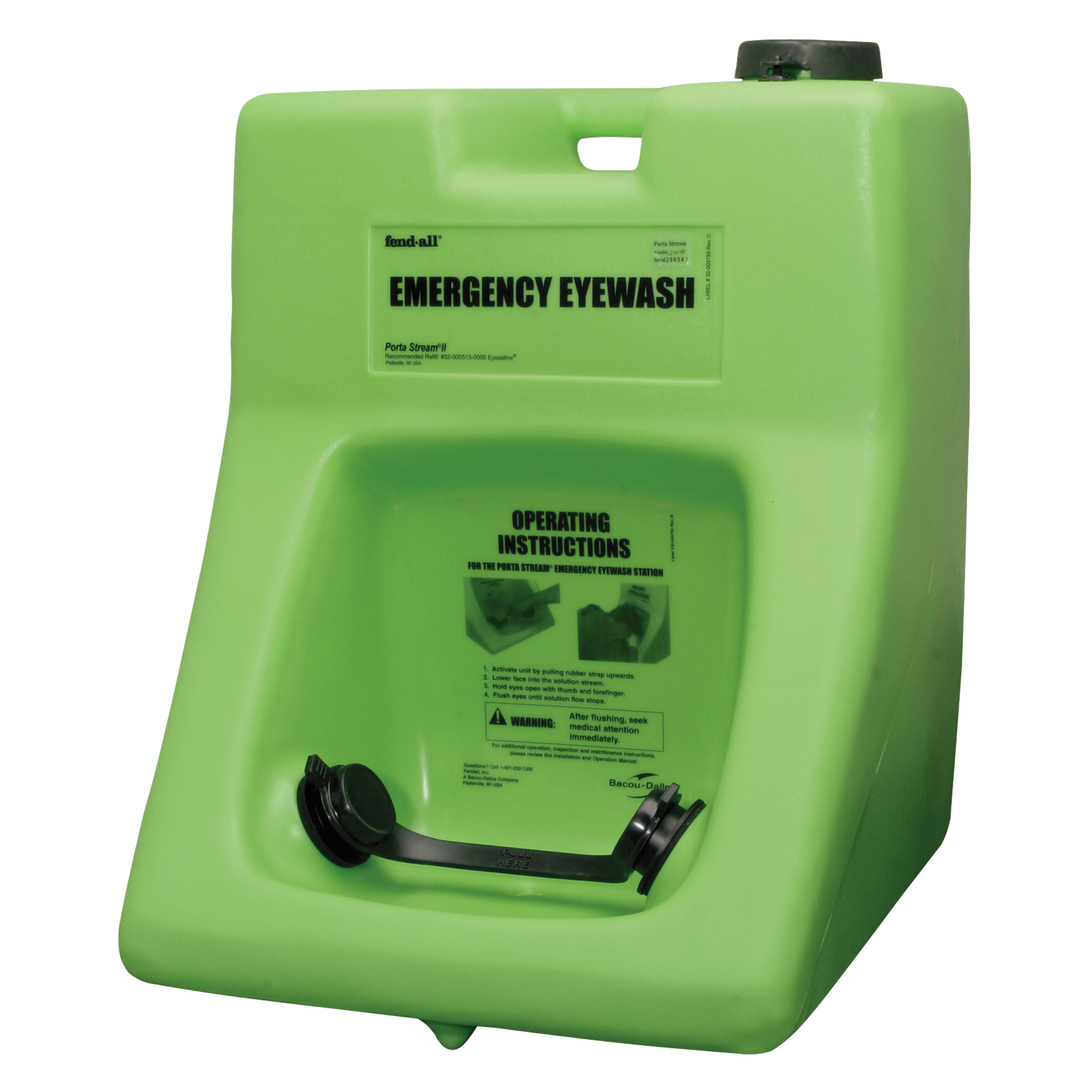 Honeywell Fendall Porta Stream II Eye Wash Station with Eyesaline Concentrate