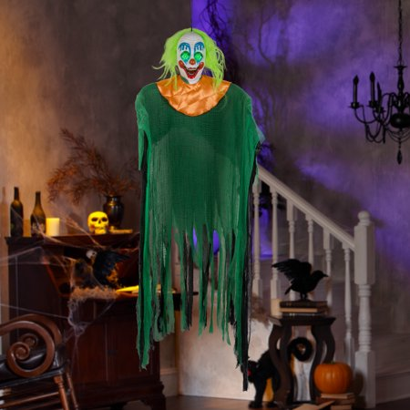 Way to Celebrate Halloween Multicolor Hanging Clown Decoration (7 in)