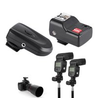 16 Channel Wireless Flash Trigger Set with 1 Transmitter + 1 Receivers + 1 Sync Cord, Wireless Flash Trigger, Flash Trigger Set