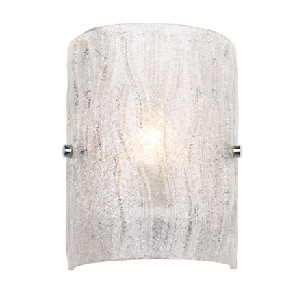 Varaluz - Brilliance - 1 Light Bath Wall Sconce - Chrome Finish - Bright Ice Glass