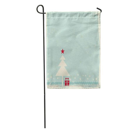 - KDAGR Red Christmas Tree Star Topper on Pale Blue Space Garden Flag Decorative Flag House Banner 12x18 inch