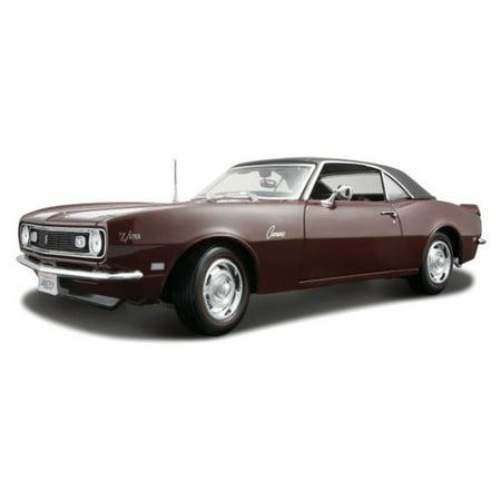 1968 Chevy Camaro Z/28 Coupe, Maroon w/White Stripes - Maisto 31685 - 1/18 Scale Diecast Model Toy Car Maisto Toy Cars