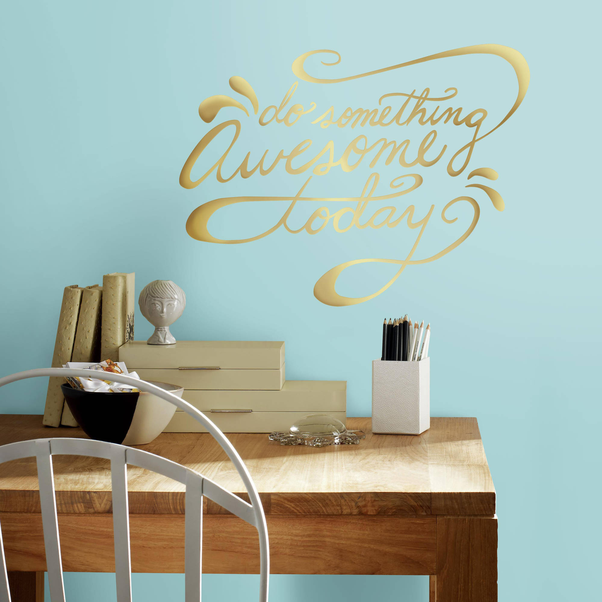 RoomMates Decor Do Something Awesome Quote Peel-and-Stick Wall Decals