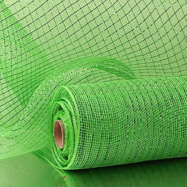 "21"" X 10 Yards Dark Apple Green Deco Mesh W/Mtllc Stripe by Paper Mart"