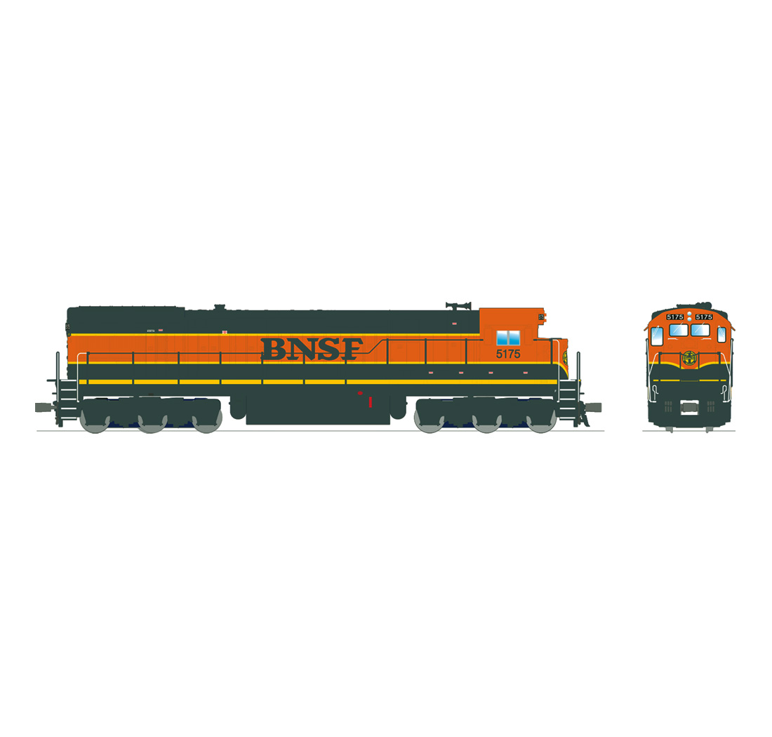 Broadway Limited 4407 HO Burlington Northern Santa Fe GE ...