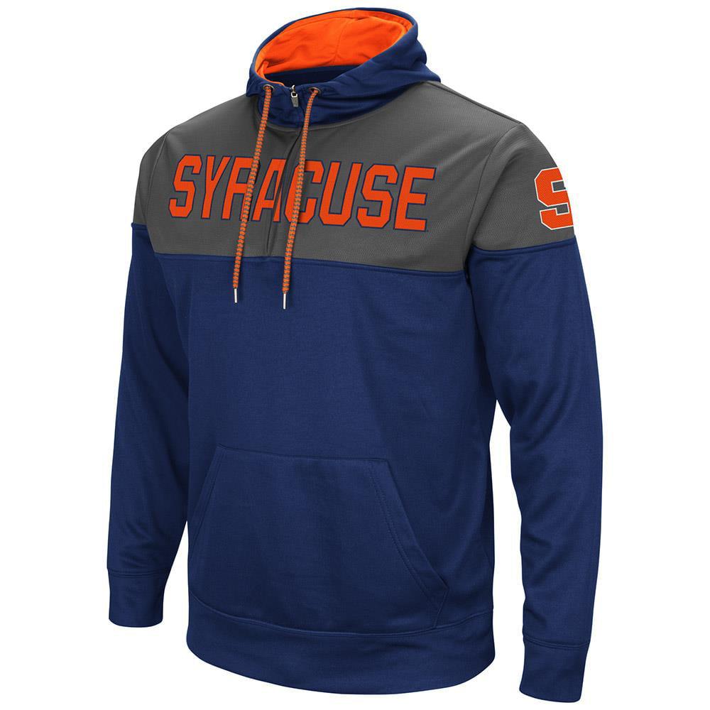 Mens Syracuse Orange Quarter Zip Pull-over Hoodie by Colosseum