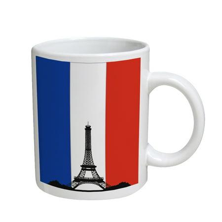 KuzmarK Coffee Cup Mug 11 Ounce -  French Eiffel Tower ()