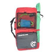 eBodyboarding.com 2-Board Bag with Umbrella Holder - Red with Grey Pockets