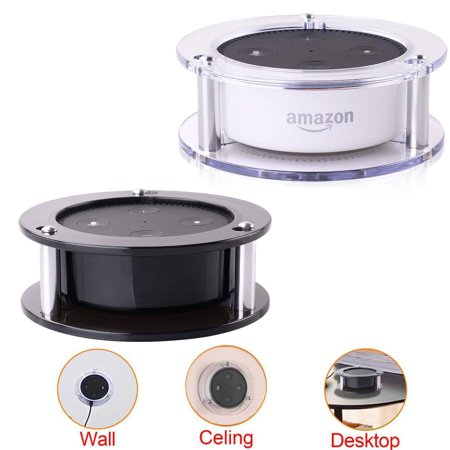 Acrylic Ceiling Wall Mount for Echo Dot 2nd Generation Free 24-month Warranty Speaker Stand Stable Guard Holder 1-Piece (Random