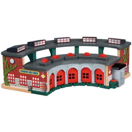 Fisher-Price Thomas the Train Wooden Railway Deluxe Roundhouse ...