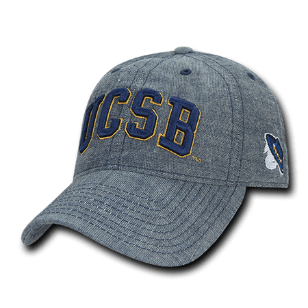 NCAA UCSB UC Santa Barbara Gruchos 6 Panel Relaxed Denim Baseball Caps Hats - Santa Caps