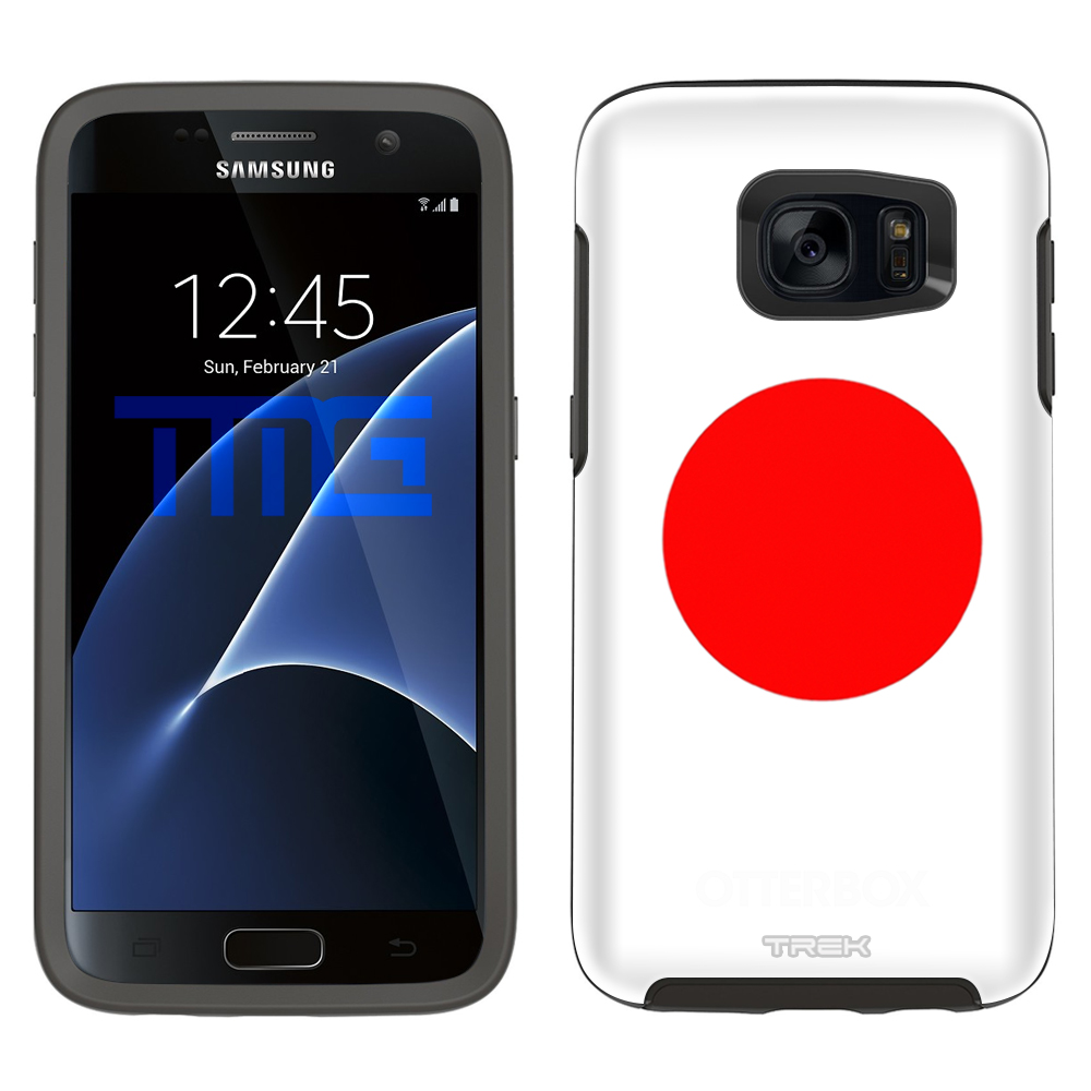 Skin Decal for OtterBox Symmetry Samsung Galaxy S7 Case Japan Flag by Trek Media Group