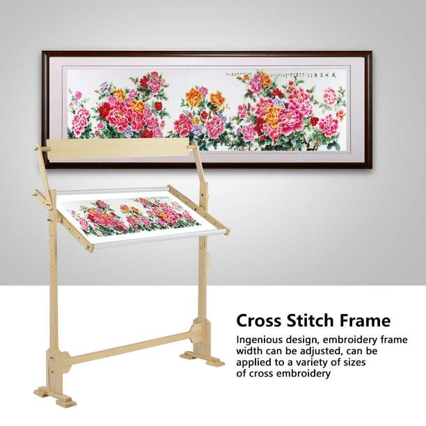 Large Size Adjustable Embroidery Stand Adjustable Wood Frame for Stitch Needlework Stitch Needlework Wood Frame
