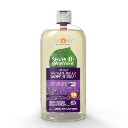 Seventh Generation EasyDose Ultra Concentrated Laundry Detergent, Fresh Lavender scent, 23 oz, 66 -
