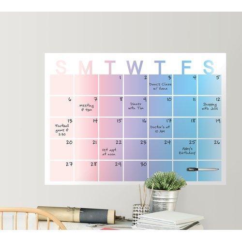 Ebern Designs Monthly Calendar Chalkboard Wall Decal