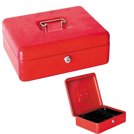 zimtown lockable cash box deposit slot petty cash money box safe