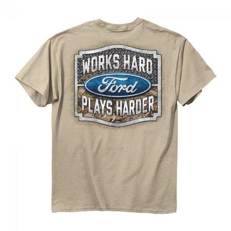 Buck Wear 2542 2X Fmc   Plays Harder Classic Fit Short Sleeve T Shirt Mens 2X Sand Putty