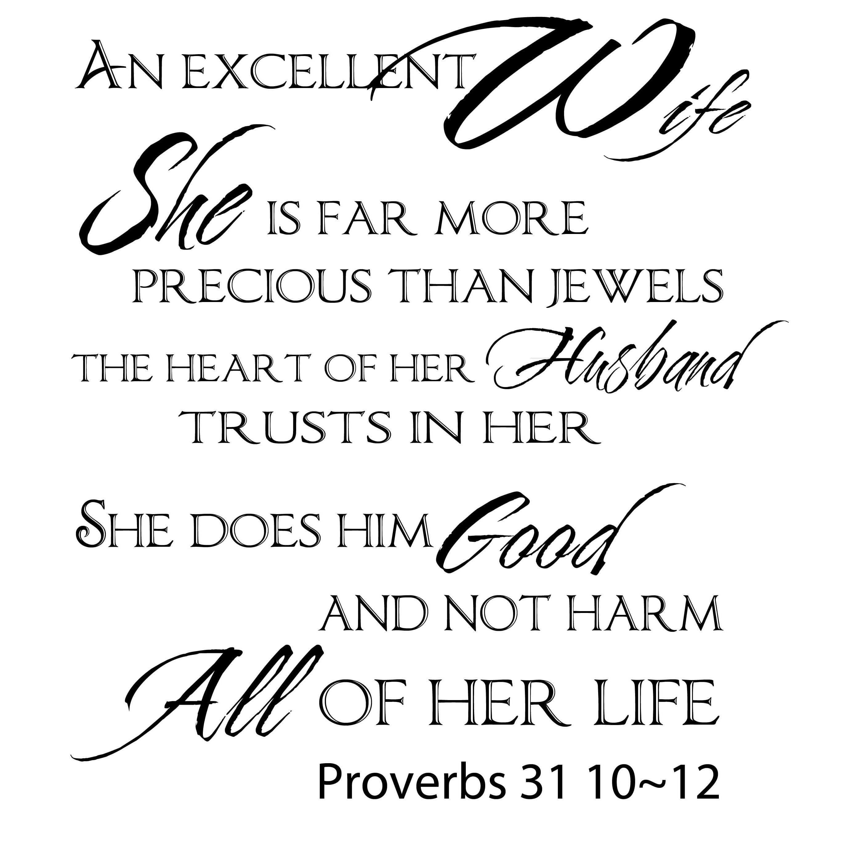 Everything Vinyl Decor Proverbs 31 Vinyl Wall Art