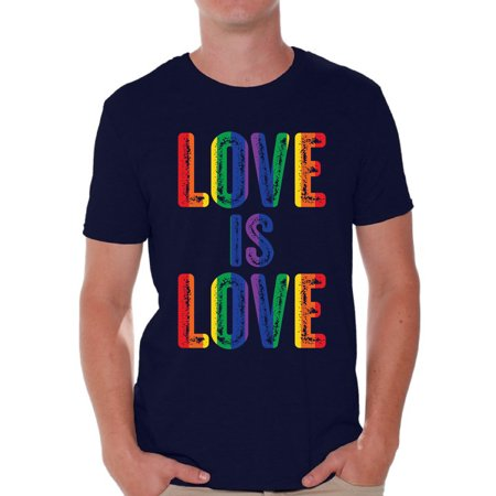 Awkward Styles Love is Love Shirts for Men Gay Shirt Gay Love T Shirt Gay Men Clothing Gay T Shirt Gay Tshirt for Him Gay Pride Tshirt Love is Love Tshirt for Boyfriend Gay Gifts Gay Shirt for Husband