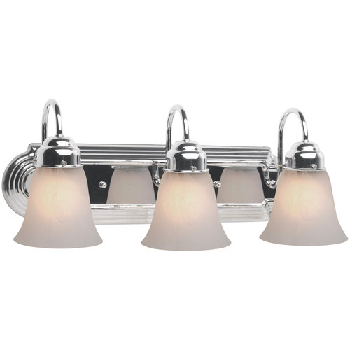 walmart bathroom lighting hampton 3 light camille bath vanity light polished chrome 15007