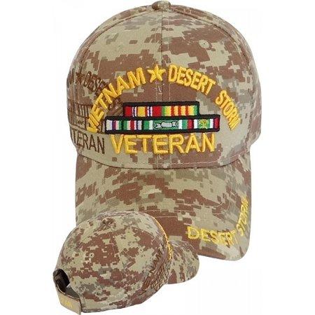 eec23aa764f729 Cultural Exchange - Vietnam + Desert Storm War Veteran Ribbon Shadow Mens  Cap  Desert Digital - Adjustable  - Walmart.com