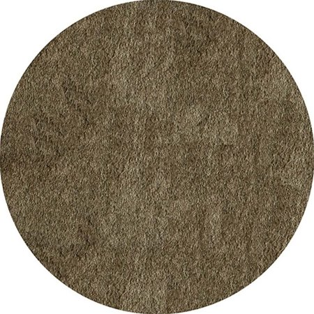 Momeni Luster Shag 4' X 4' Round Rug in Light Taupe - image 1 de 3