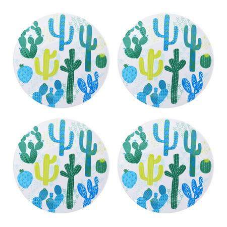 Mainstays Outdoor Melamine Cactus Dinner Plate, Set of - Cactus Dinner